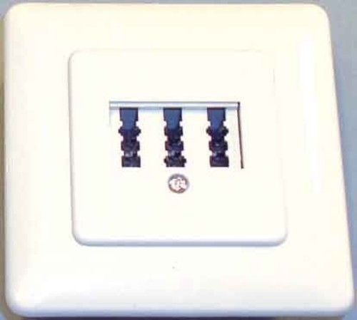 E+P Elektrik TAE-Anschlussdose 3-fach ch UP T133