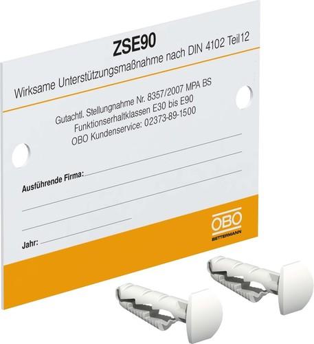 OBO Bettermann Vertr Kennzeichnungsschild f.Zugentlastung KS-ZSE DE