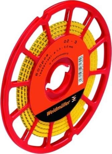 Weidmüller Leitermarkierer 3x4,2mm,weich,gelb CLI C 1-3 GE/SW Ä CD