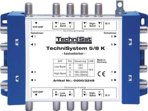 TechniSat Multischalter Kaskade TECHNISYSTEM58K