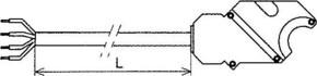 Somfy Netzanschlussleitung 5m schwarz für Rohrmotoren NHK 9001385