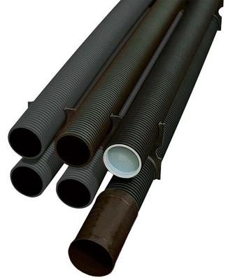 Fränkische Kabelschutzrohr schwarz Kabuflex S125 6m-St.