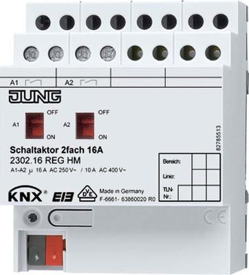 Jung KNX Schaltaktor 2-fach 16A 2302.16 REGHM