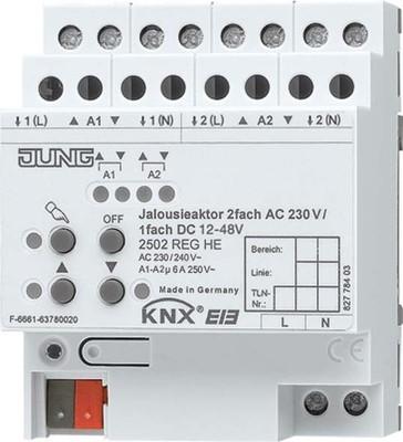 Jung KNX Jalousieaktor REG Gehäuse 4TE 2502 REGHE