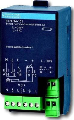 Busch-Jaeger Schalt-/Dimmaktormodul 2-fach ch, 6A 6174/14-101