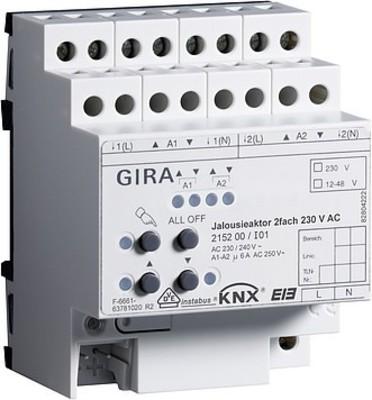 Gira Jalousieaktor 2-fach ch 230VAC KNX/EIB REG 215200