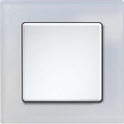 Eltako Q-Rahmen 1-fach Glas-sw glänzend QR1Gw-gw