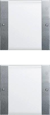Gira Wippenset 2-fach aluminium 213226