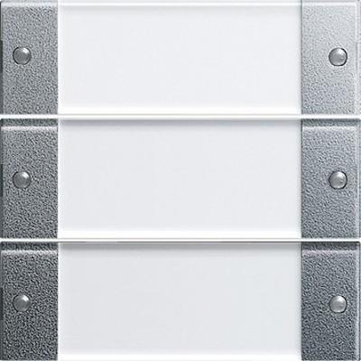 Gira Wippenset 3-fach aluminium 213326
