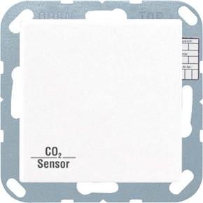 Jung KNX CO2-Sensor, RT-Regler Luftfeuchtesensor weiß CO2 A 2178