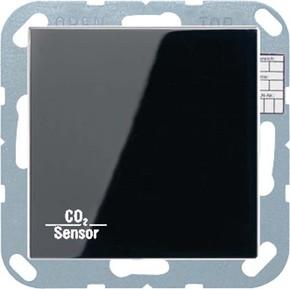 Jung KNX CO2-Sensor, RT-Regler Luftfeuchtesensor schwarz CO2 A 2178 SW