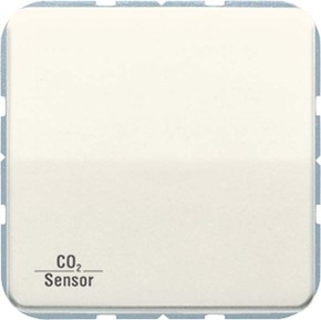 Jung KNX CO2-Sensor, RT-Regler Luftfeuchtesensor weiß CO2 CD 2178