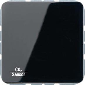 Jung KNX CO2-Sensor, RT-Regler Luftfeuchtesensor schwarz CO2 CD 2178 SW