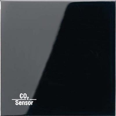 Jung KNX CO2-Sensor, RT-Regler Luftfeuchtesensor schwarz CO2 LS 2178 SW
