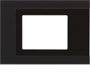 Jung Sicherheitsglas-Rahmen schwarz KNX Fac.Col.T. Panel FP GLAS 781 SW