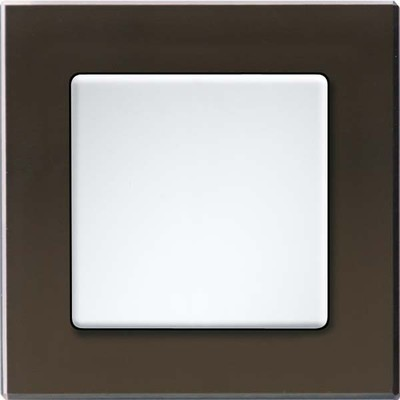 Eltako Q-Rahmen 1-fach Glas sw, Korpus schwarz QR1Gs-sz