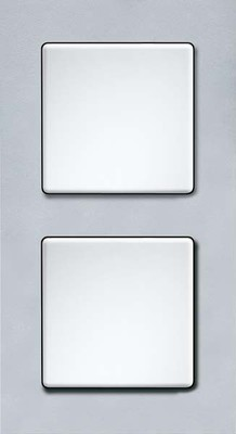 Eltako Q-Rahmen 2-fach Kuntstoff alu-si QR2K-as