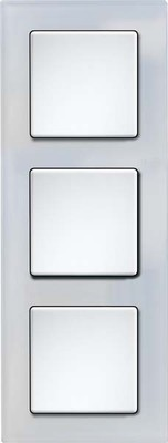 Eltako Q-Rahmen 3-fach Glas weiß,Korpus gl/ws QR3Gw-gw