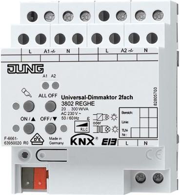 Jung KNX Universal-Dimmaktor 2-fach ch 3902 REGHE