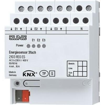 Jung Energiesensor 3-fach ch KNX REG 2103 REG ES