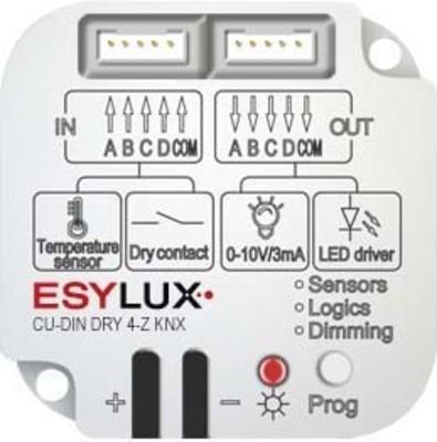 ESYLUX 4-Kanal Dry Kontakt 2Eing.2Ausg.0-10V CU-DIN DRY 4-Z KNX