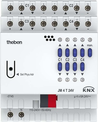 Theben Jalousieaktor FIX 1 JM 4 T 24V KNX