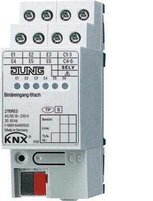Jung Binäreingang 6-fach REG AC/DC 2TE 2116 REG