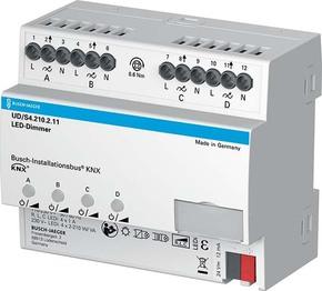 Busch-Jaeger LED-Dimmer 4x210W/VA KNX REG UD/S4.210.2.11