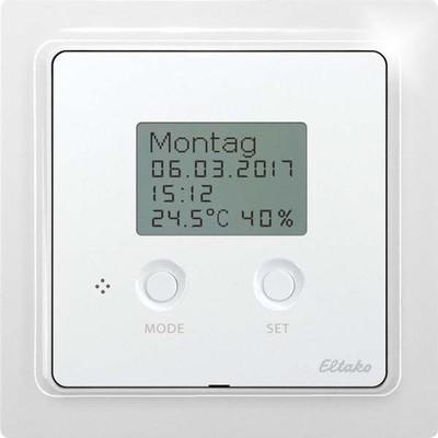 Eltako Bus-Uhren-Thermo-Hygrostat mit Display, reinweiß gl. BUTH65D/12VDC-wg