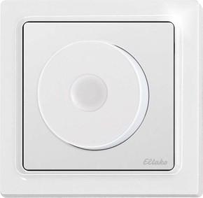Eltako Dreh-Tast-Dimmschalter flach, reinweiß glänzend DTD65FL-230V-wg