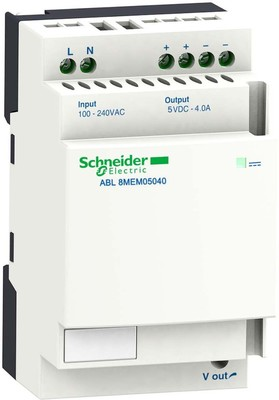 Schneider Electric Spannungsversorgung 4A 5VDC 100-240V ABL8MEM05040
