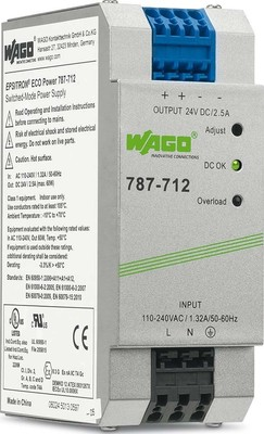WAGO Kontakttechnik Stromversorgung 24VDC 2,5A 787-712