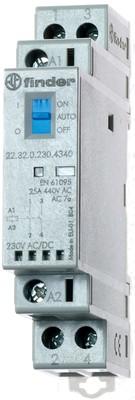 Finder Installationsschütz 230VAC/DC,2S,LED 22.32.0.230.4340