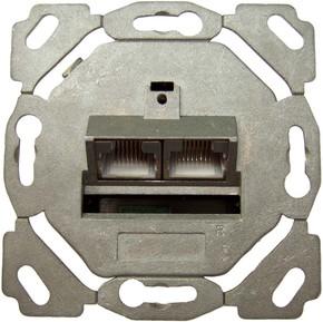 Setec Anschlussdose Kat6A design 2xRJ45,EK/0-D,hz TN-CAT6A EK/0 hz