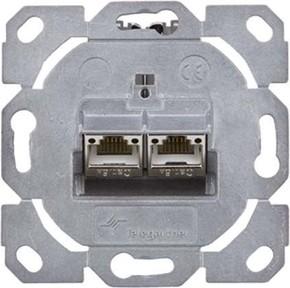 Telegärtner Modulaufnahme AMJ-S 2-fach ch UP/0flex Cat6A T568A J00020A0510