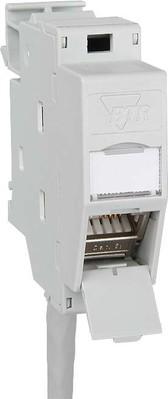 Metz Connect Hutschienenmodul,Kat.6A 1xRJ45,inkl. Modul TN C6Amod-REG-270