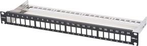 Corning Verteilerfeld für 24Module 1HE Frontblende schwarz CAXXSV-02408-C001