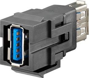 Rutenbeck Kommunikationsadapter Keystone KMK-USB 3.0 sw