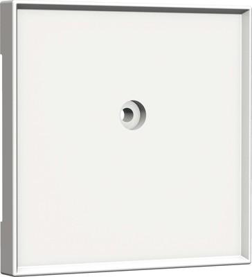 Homeway Zentralplatte 55x55mm reinweiß Blind 55x55