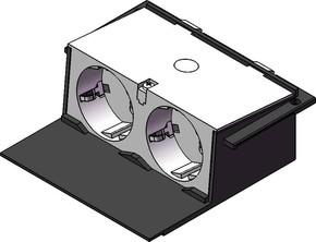 Tehalit Gerätebecher S(594) Schuko 2-fach unvers. GBES2 rws