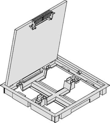 Tehalit Klappdeckel Q4(594)Rahmen 5mm grau Bef-Set 5-1 KDQ0805 egr