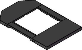 Tehalit Abdeckplatte für 2 Geräte Norm D Ringbügel GBMBV23T2