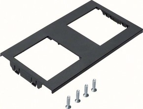 Tehalit Geräteblende zweifach für Geräteträger GTMBV30T2