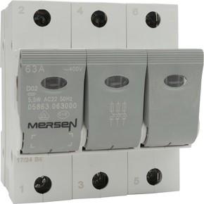 Mersen Lasttrennschalter NEOZED D02 63A/230/400V 3-p 05863.063000