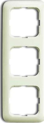 Busch-Jaeger Rahmen 3-fach weiß, senk.+ waage. 2513-212