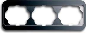 Busch-Jaeger Rahmen 3-fach platin, waager.alpha 1723-20