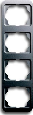 Busch-Jaeger Rahmen 4-fach platin, senkr.,alpha 1734-20