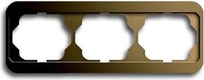 Busch-Jaeger Rahmen 3-fach bronze, waager.alpha 1723-21