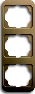 Busch-Jaeger Rahmen 3-fach bronze, senkr. alpha 1733-21