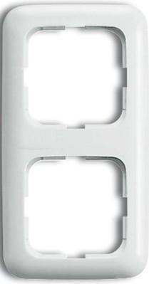 Busch-Jaeger Rahmen 2-fach alpinweiß senkr. u.waagerecht 2512-214